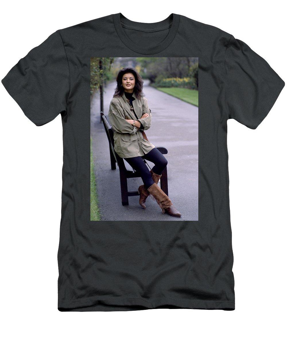 Catherine Zeta Jones Men's T-Shirt (Athletic Fit) featuring the photograph Catherine Zeta Jones by Shaun Higson