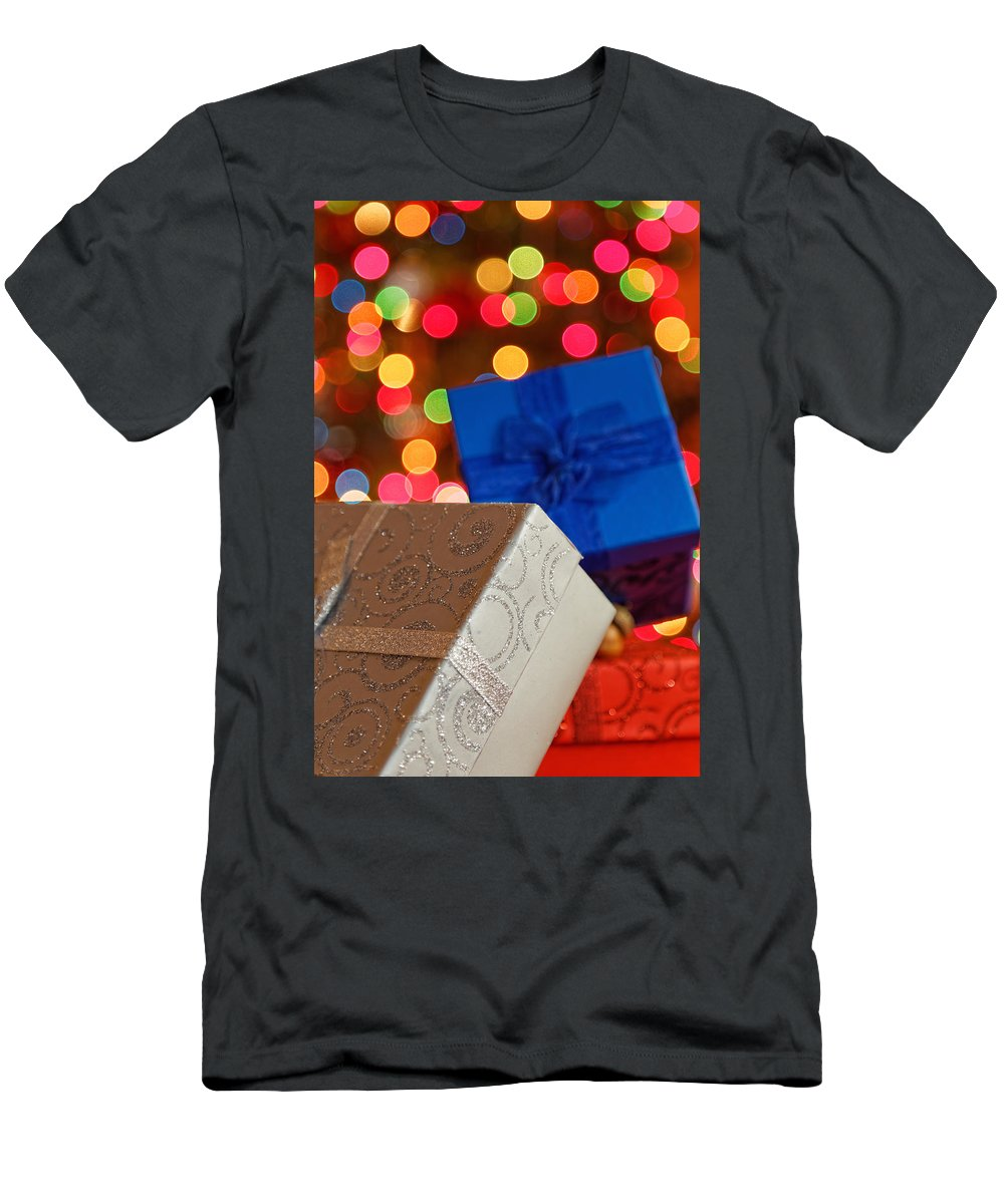 Background Men's T-Shirt (Athletic Fit) featuring the photograph Christmas Gifts by Peter Lakomy