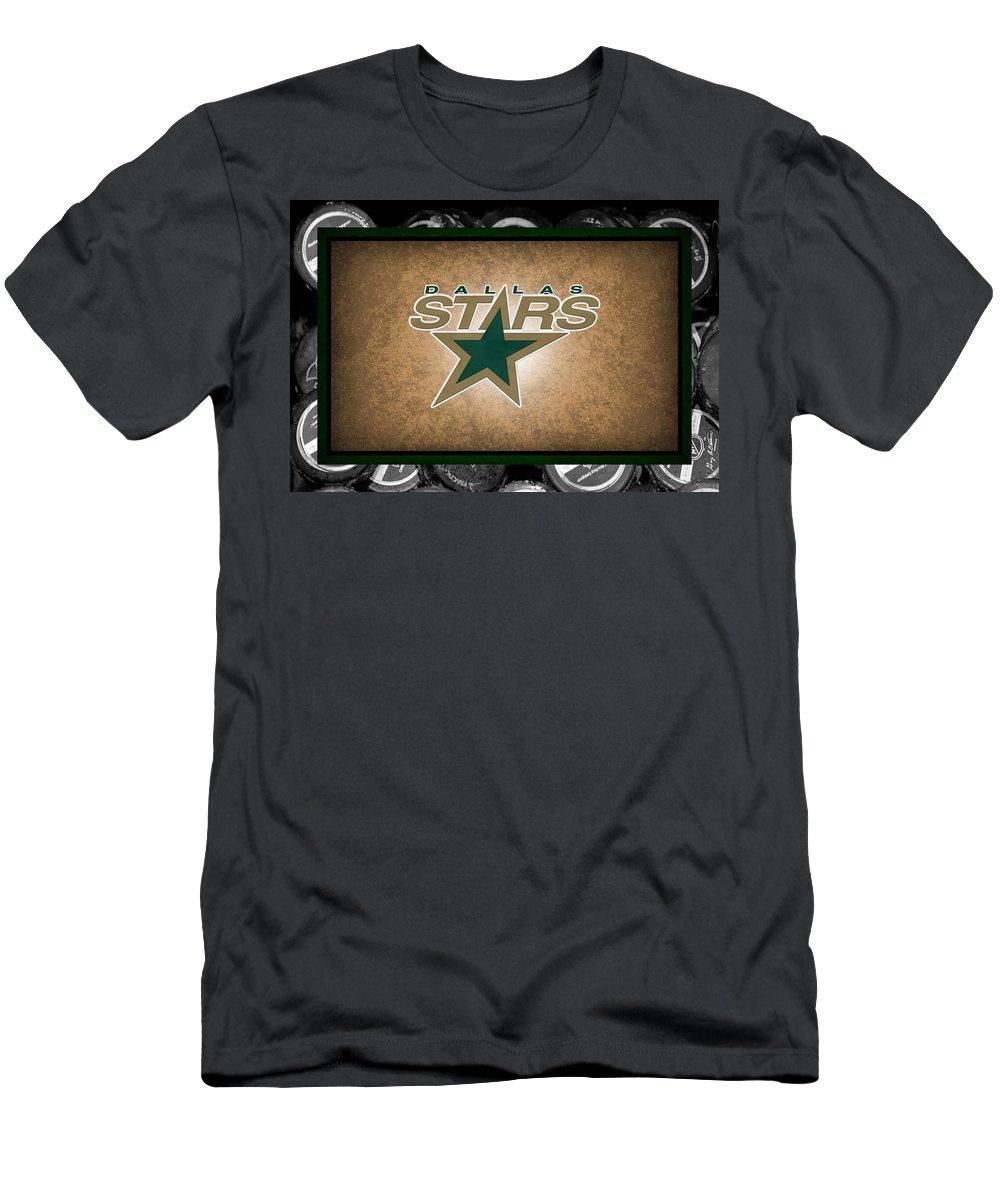 Stars Men's T-Shirt (Athletic Fit) featuring the photograph Dallas Stars by Joe Hamilton