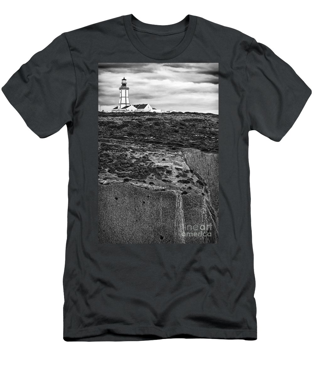 Lighthouse Men's T-Shirt (Athletic Fit) featuring the photograph Espichel Cape Lighthouse by Jose Elias - Sofia Pereira