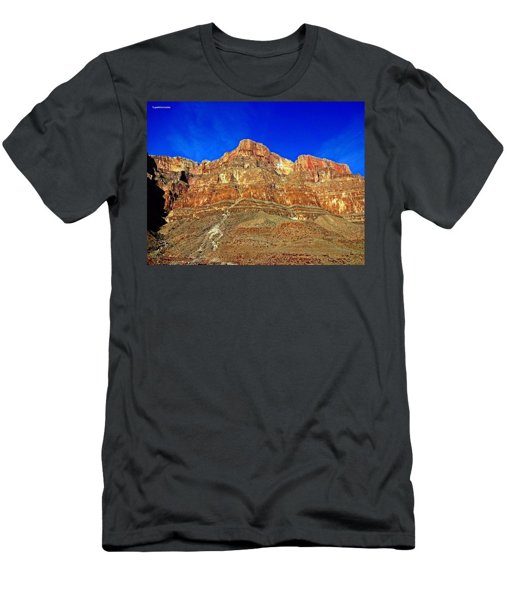 Grand Canyon Men's T-Shirt (Athletic Fit) featuring the photograph Grand Canyon West by James Markey