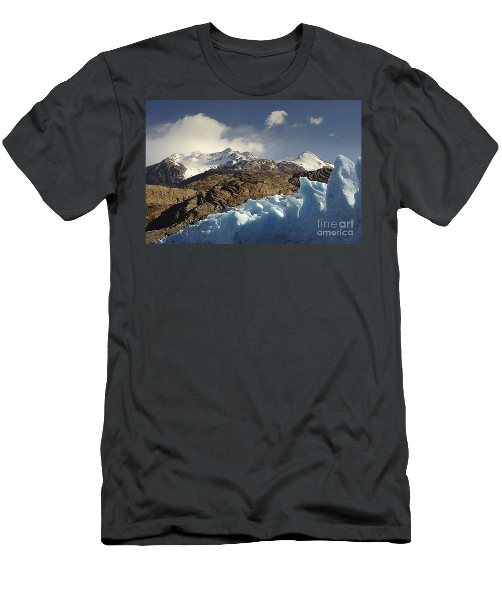 Chile Men's T-Shirt (Athletic Fit) featuring the photograph Grey Glacier In Chilean National Park by John Shaw
