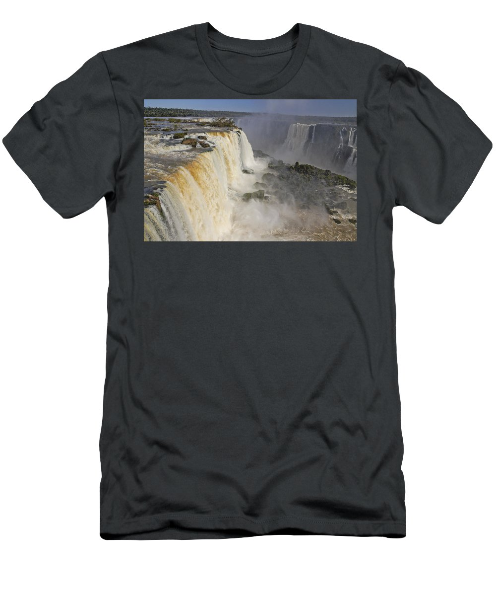 Brazil T-Shirt featuring the photograph Iguassu Falls by Michele Burgess