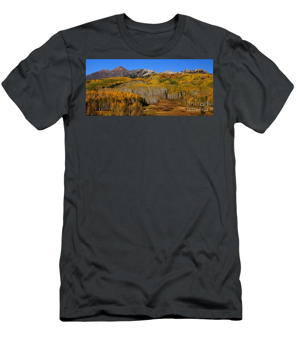 Kebler Pass Men's T-Shirt (Athletic Fit) featuring the photograph Kebler Color Show by Kelly Black