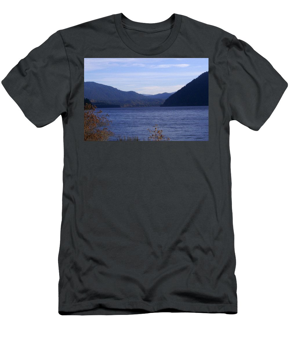 Bloom Men's T-Shirt (Athletic Fit) featuring the photograph Lakes 5 by J D Owen
