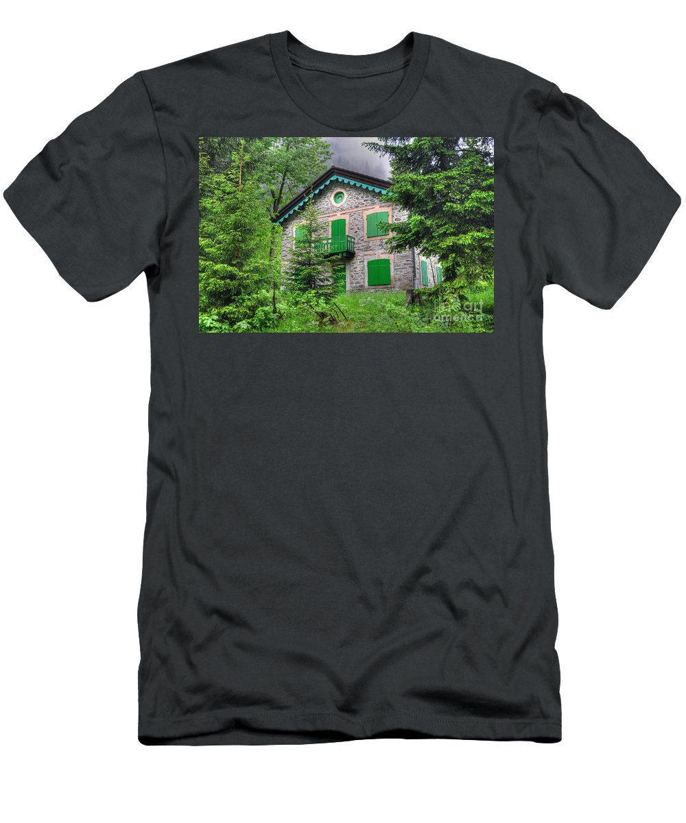 House Men's T-Shirt (Athletic Fit) featuring the photograph Rustic House by Mats Silvan