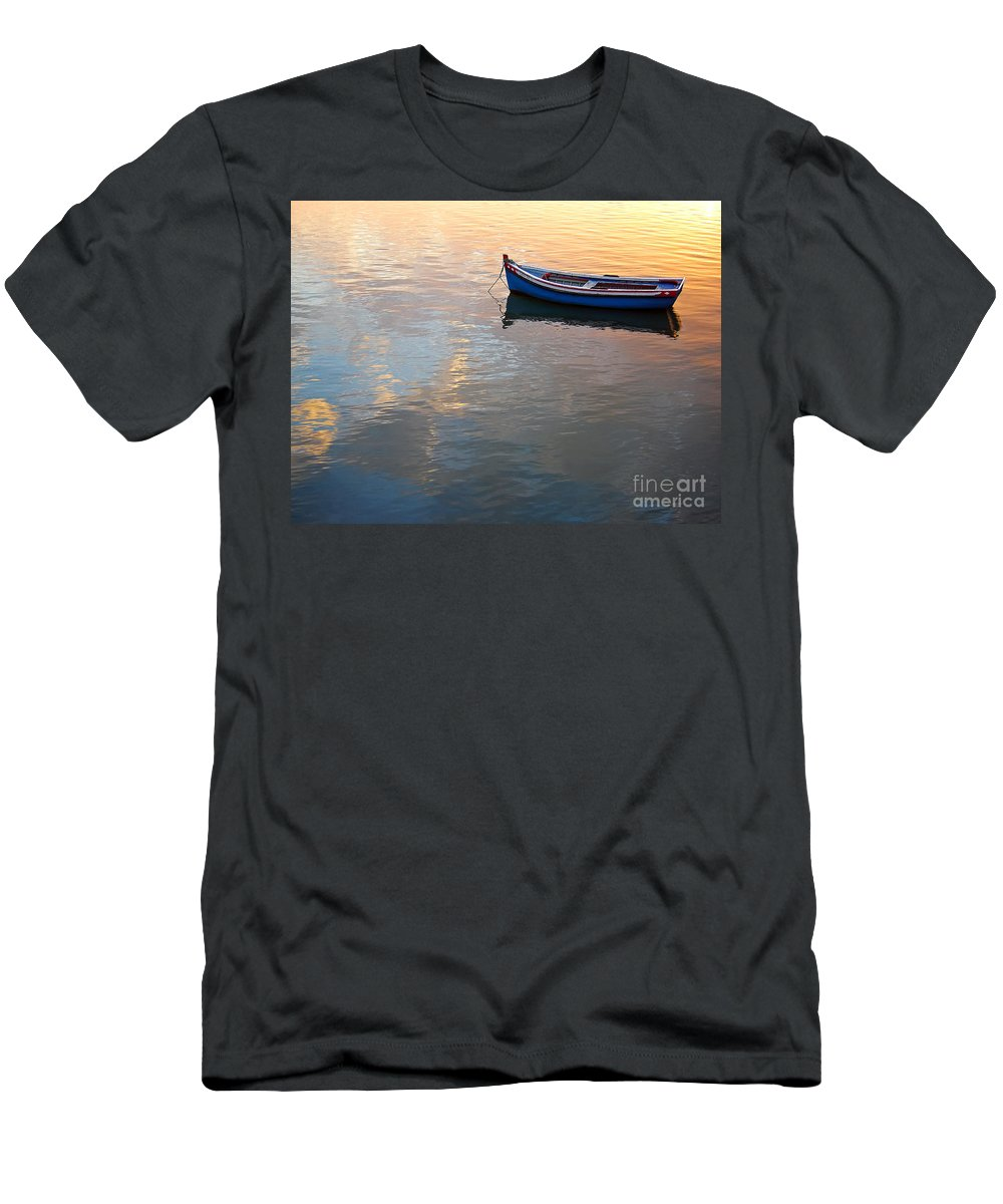 Wood Men's T-Shirt (Athletic Fit) featuring the photograph Calmness by Jose Elias - Sofia Pereira