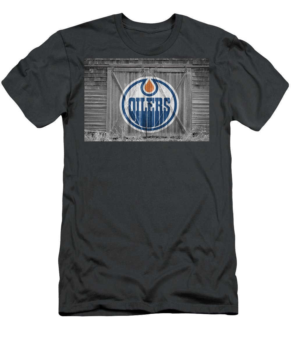 Oilers Men's T-Shirt (Athletic Fit) featuring the photograph Edmonton Oilers by Joe Hamilton