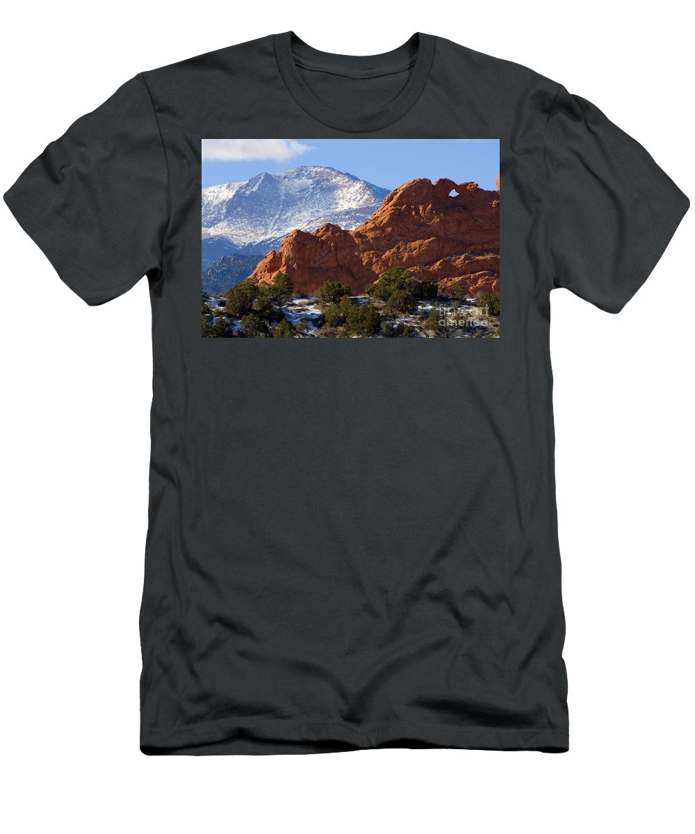 Garden Of The Gods Men's T-Shirt (Athletic Fit) featuring the photograph Garden Of The Gods by Steve Krull