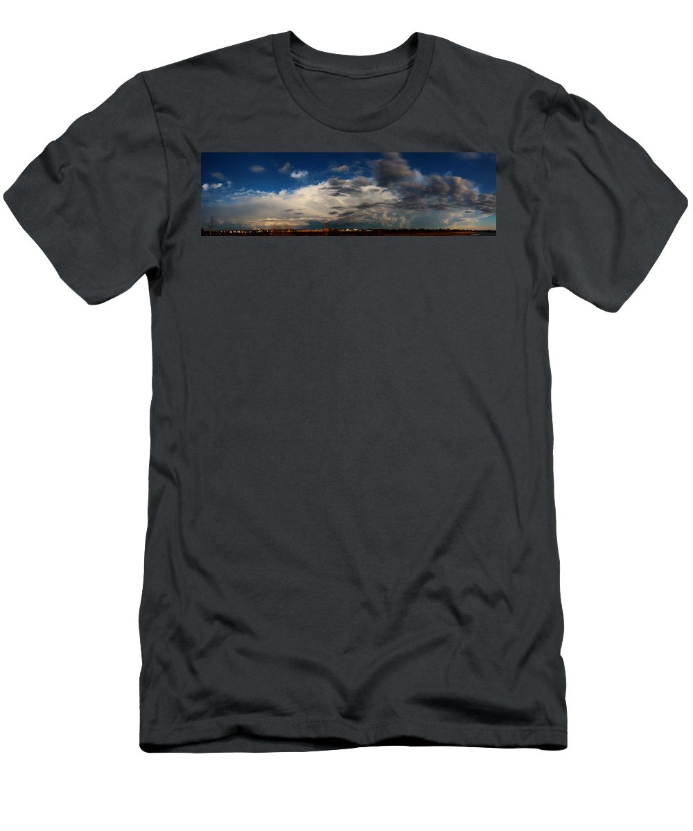 Stormscape Men's T-Shirt (Athletic Fit) featuring the photograph Let The Storm Season Begin by NebraskaSC