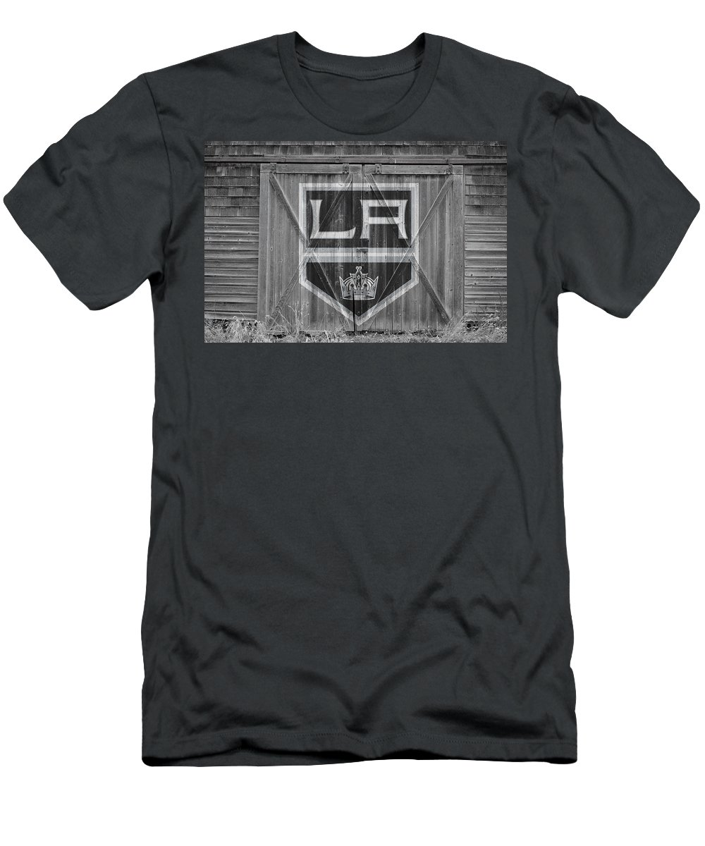 Kings Men's T-Shirt (Athletic Fit) featuring the photograph Los Angeles Kings by Joe Hamilton