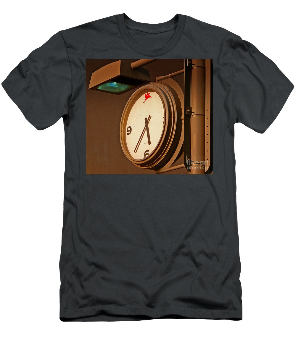Time Men's T-Shirt (Athletic Fit) featuring the photograph Rush Hour by Angela Wright