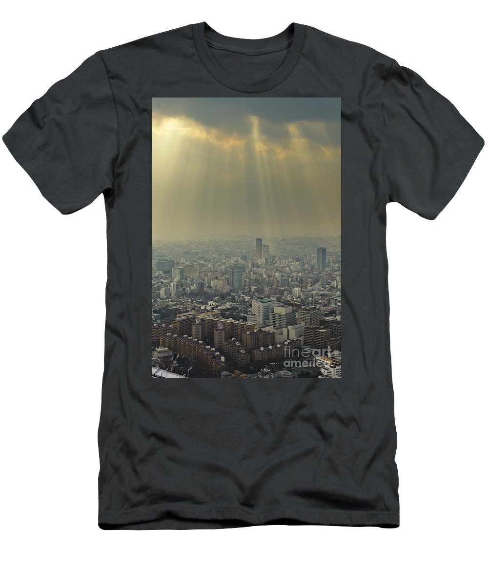 Asia Men's T-Shirt (Athletic Fit) featuring the photograph Tokyo, Japan by John Shaw
