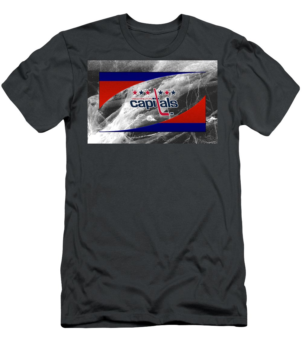 Capitals Men's T-Shirt (Athletic Fit) featuring the photograph Washington Capitals by Joe Hamilton