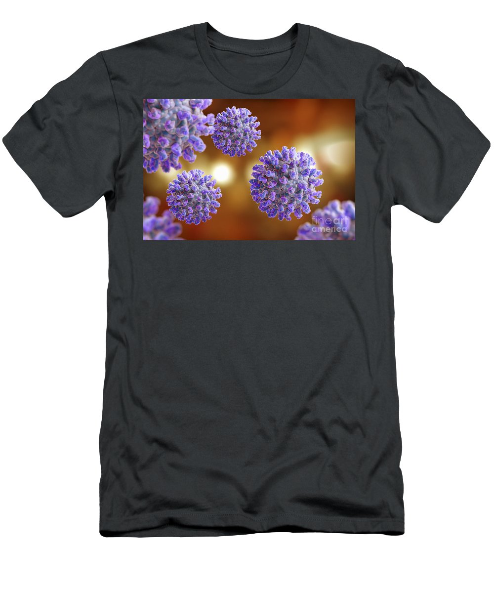 Digitally Generated Image Men's T-Shirt (Athletic Fit) featuring the photograph West Nile Virus by Science Picture Co