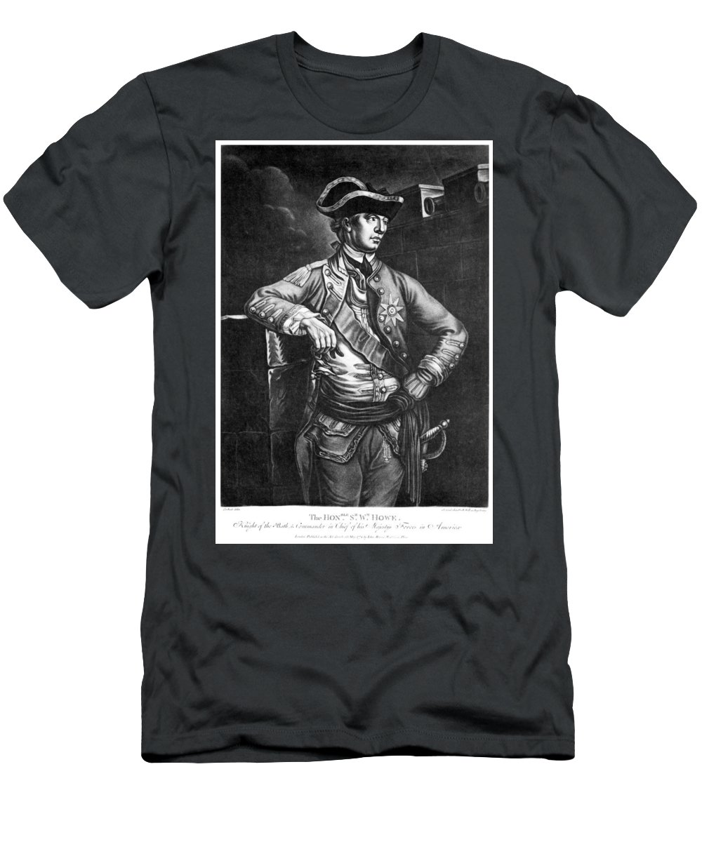 1778 Men's T-Shirt (Athletic Fit) featuring the photograph William Howe (1729-1814) by Granger