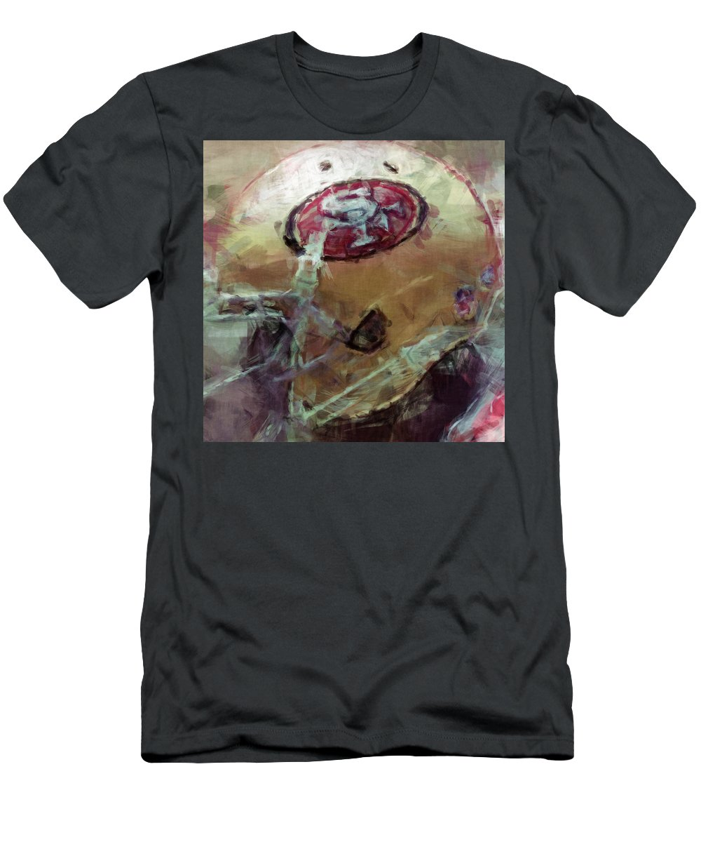 Sf Men's T-Shirt (Athletic Fit) featuring the digital art 49ers Art by David G Paul