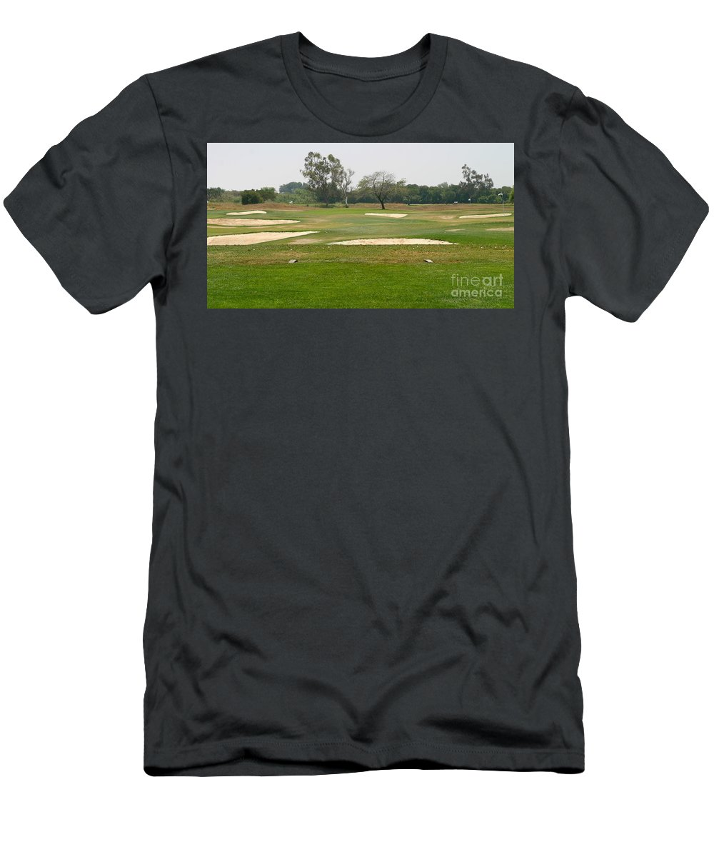 Beautiful Men's T-Shirt (Athletic Fit) featuring the photograph Golf by Henrik Lehnerer