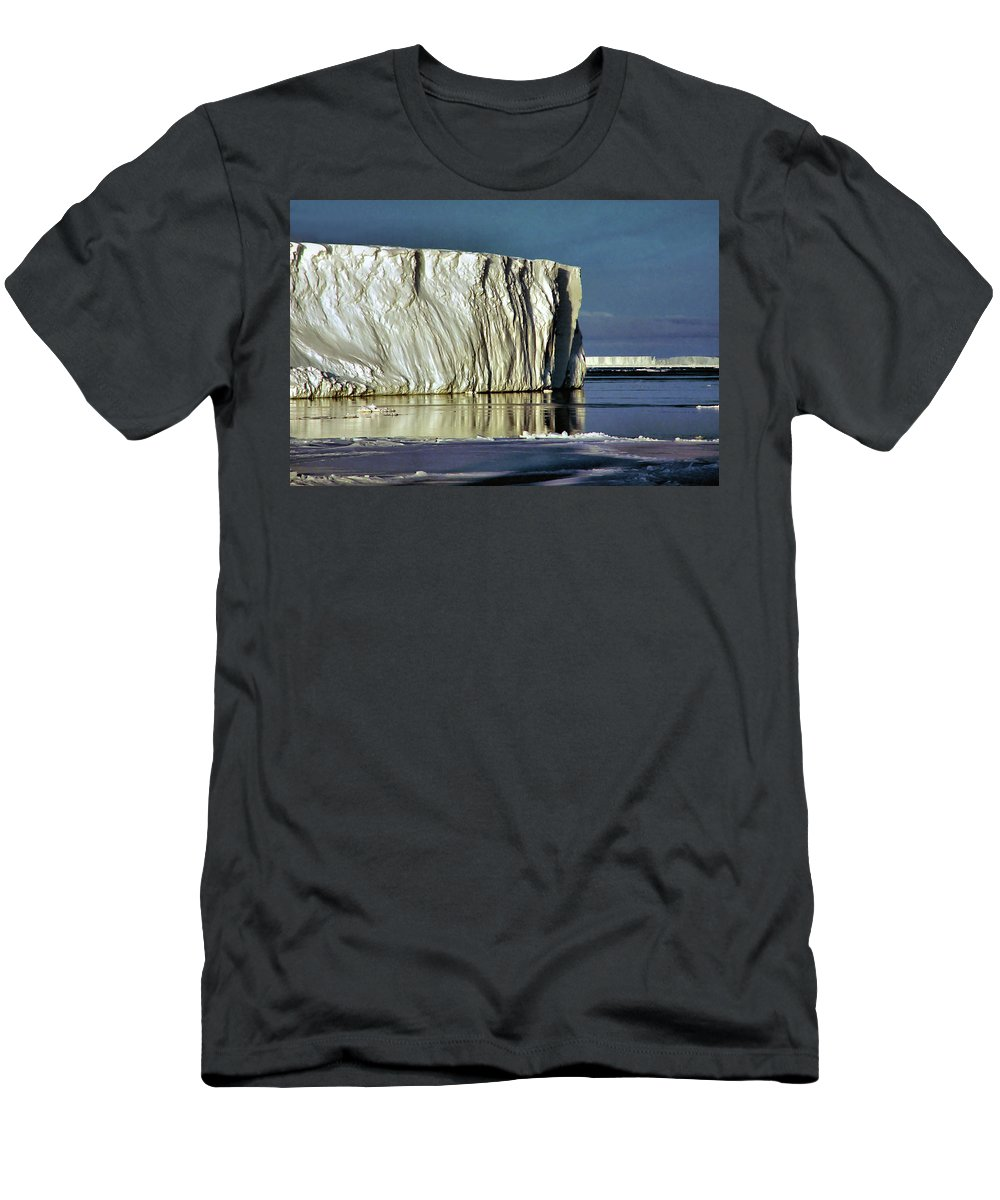 Sunshine Men's T-Shirt (Athletic Fit) featuring the photograph Iceberg In The Ross Sea Antarctica by Carole-Anne Fooks