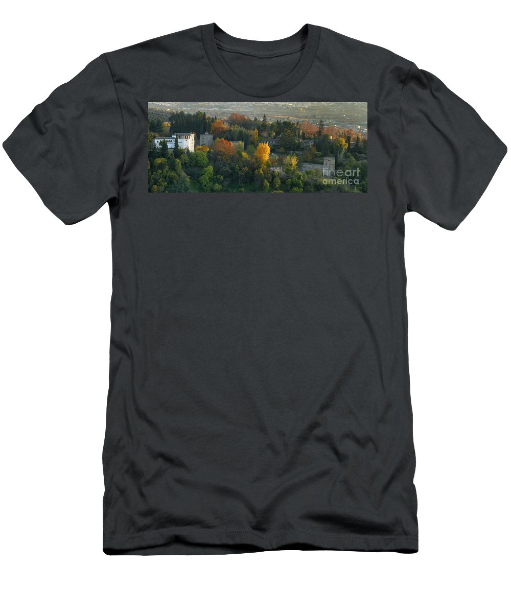 The Alhambra Men's T-Shirt (Athletic Fit) featuring the photograph The Alhambra Palace by Guido Montanes Castillo