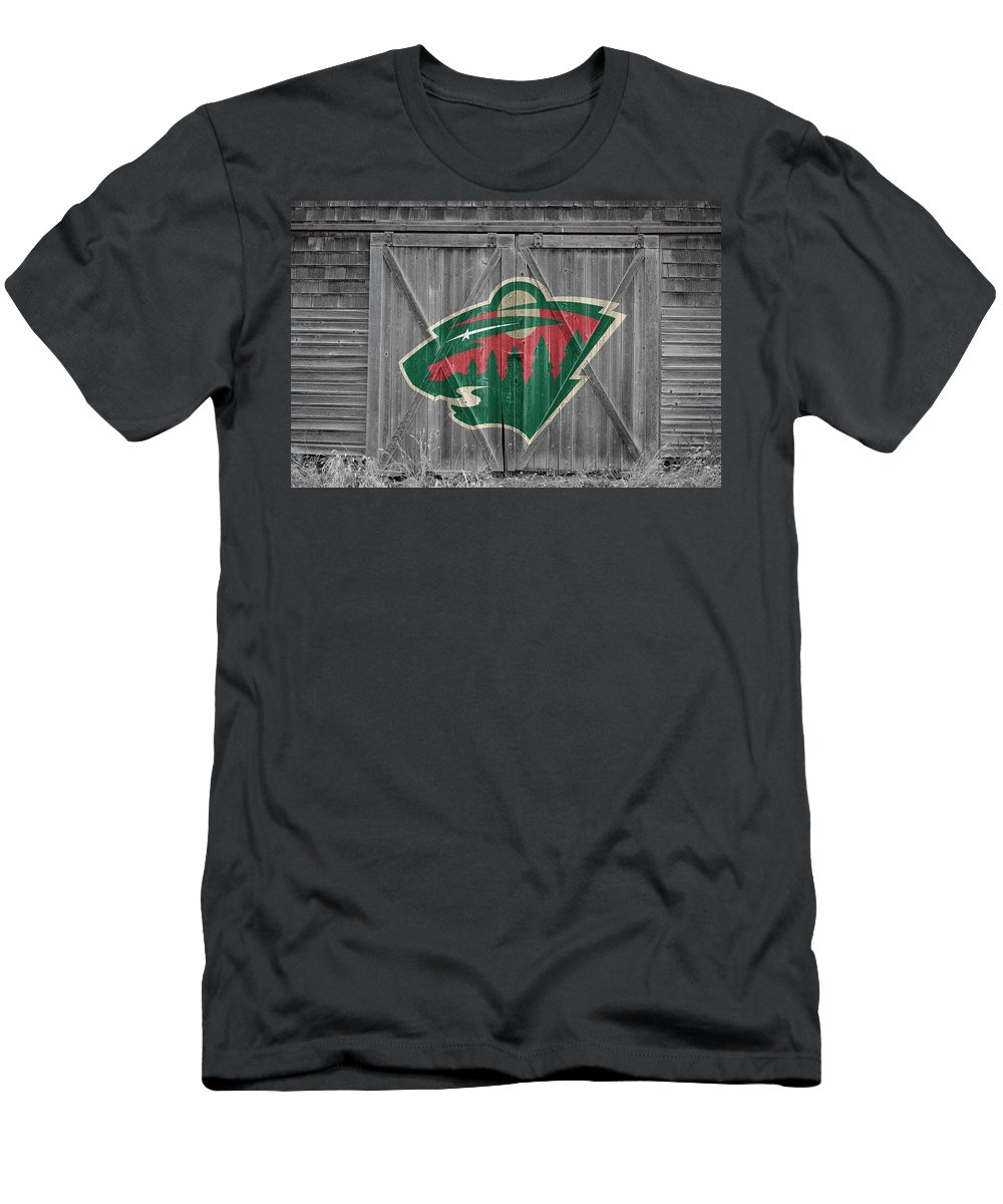 Wild Men's T-Shirt (Athletic Fit) featuring the photograph Minnesota Wild by Joe Hamilton
