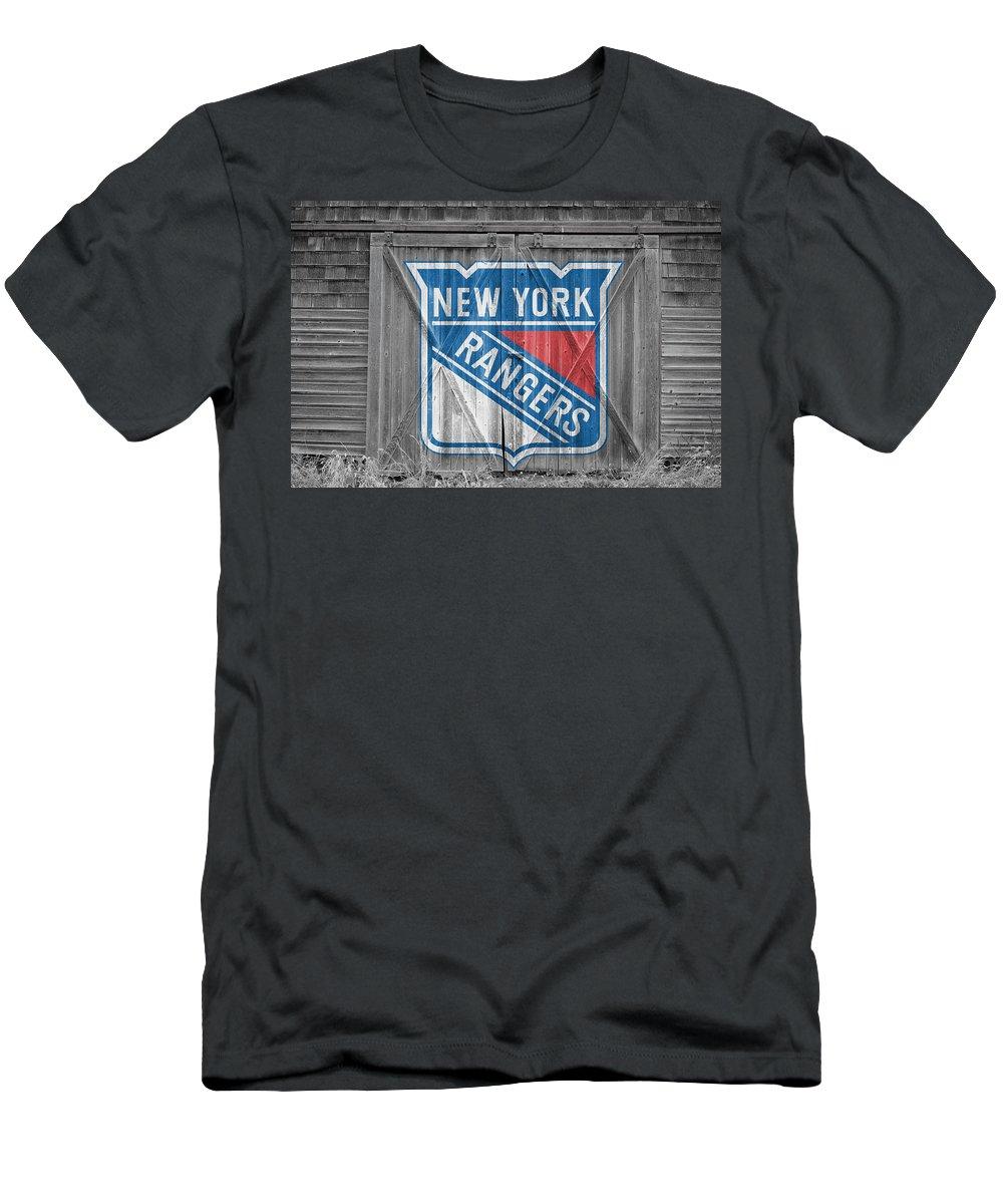 Rangers Men's T-Shirt (Athletic Fit) featuring the photograph New York Rangers by Joe Hamilton