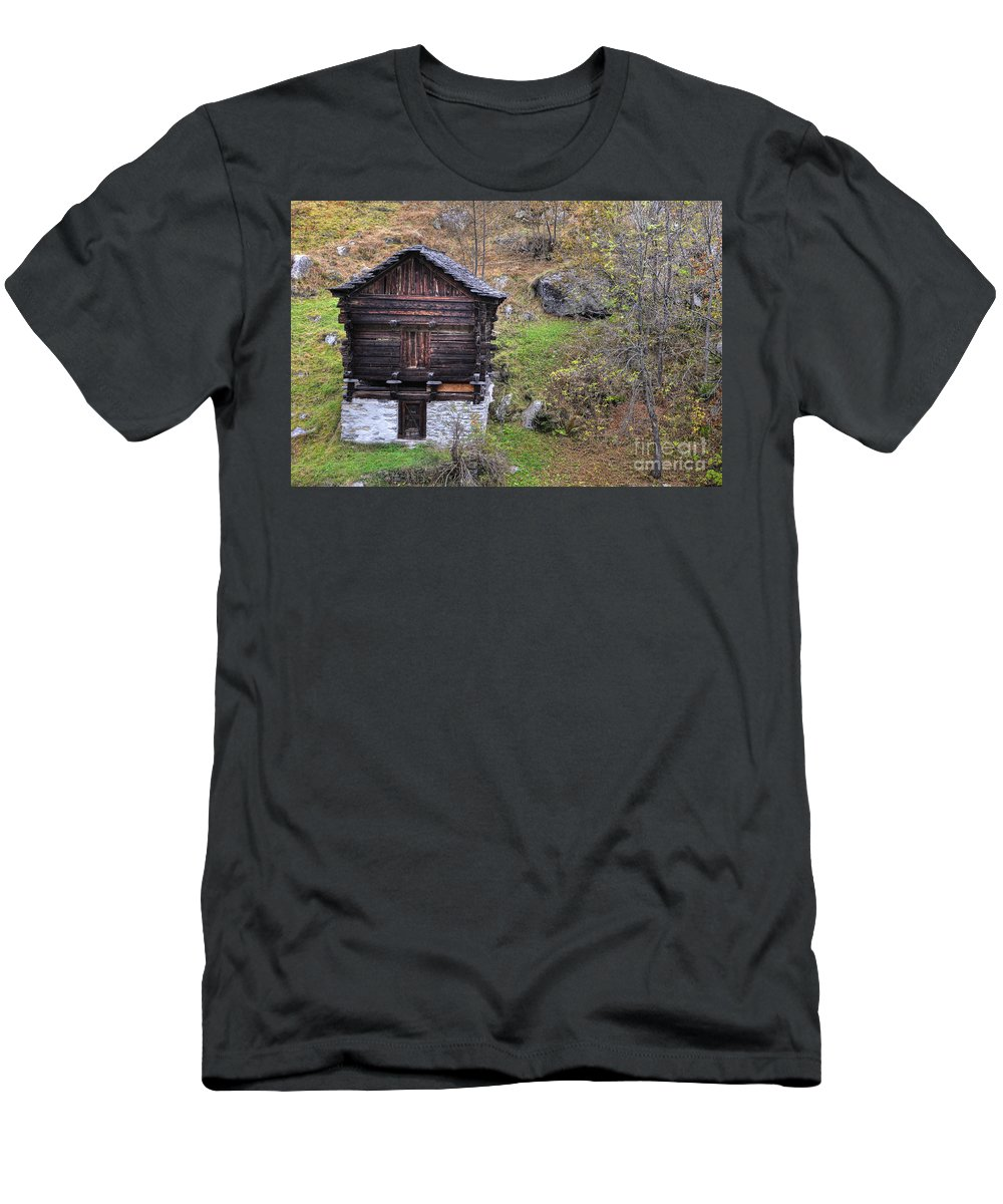 House Men's T-Shirt (Athletic Fit) featuring the photograph Old Rustic House by Mats Silvan