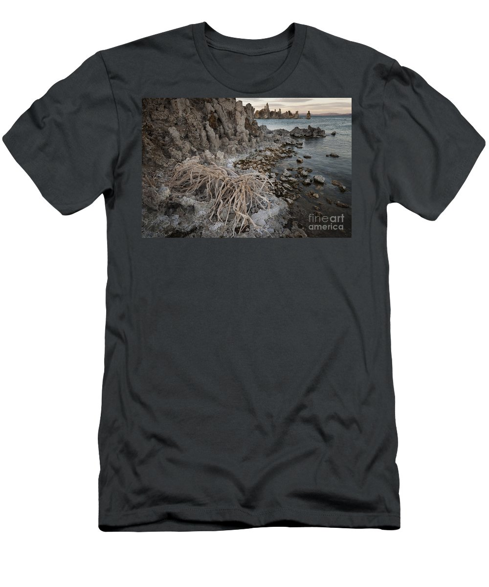 America Men's T-Shirt (Athletic Fit) featuring the photograph Tufa Formations, Mono Lake, Ca by John Shaw