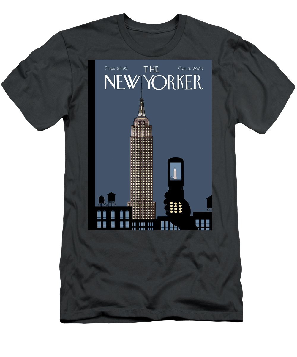 Hold Still Men's T-Shirt (Athletic Fit) featuring the painting Hold Still by Chris Ware