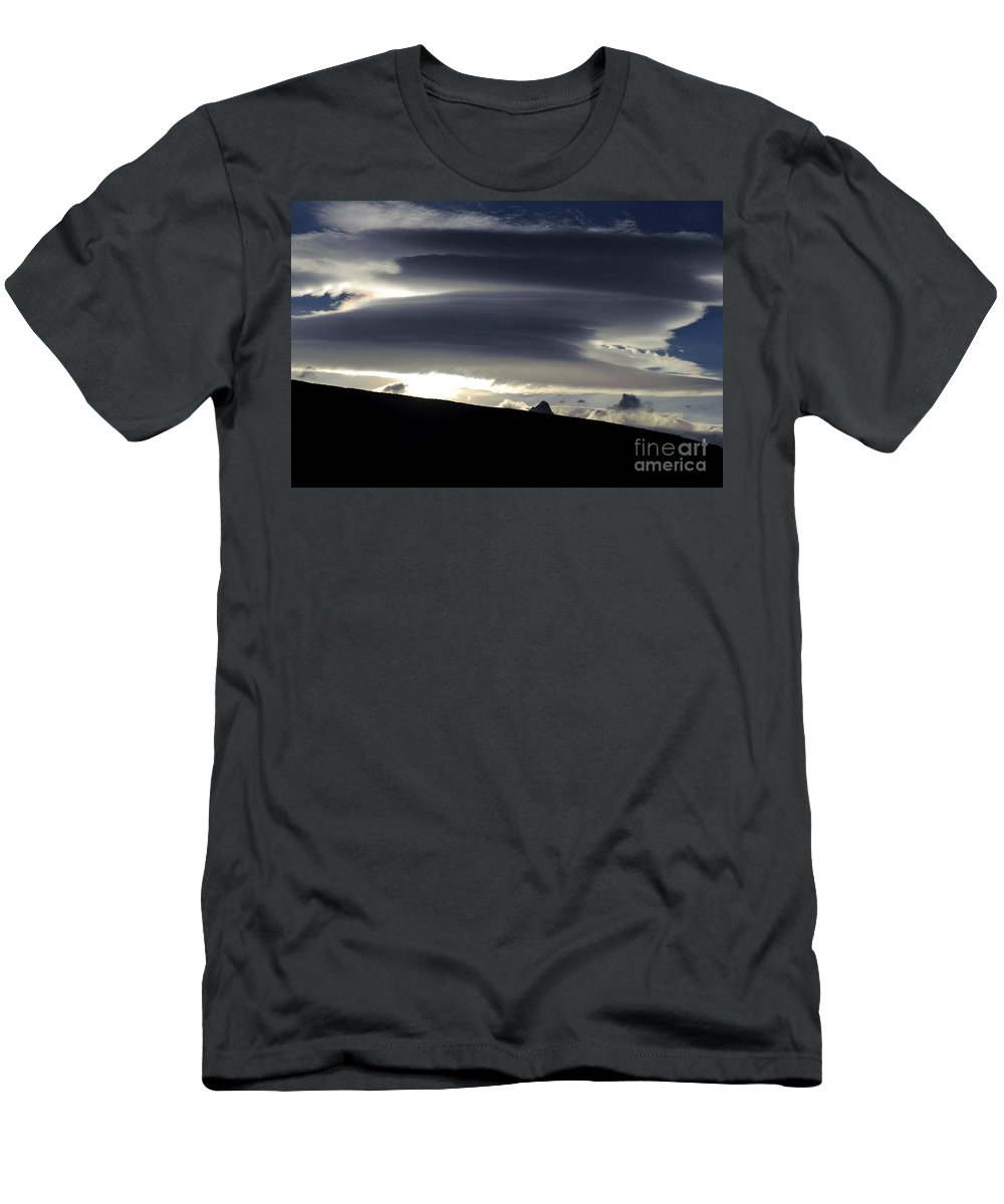 Argentina Men's T-Shirt (Athletic Fit) featuring the photograph Lenticular Clouds by John Shaw