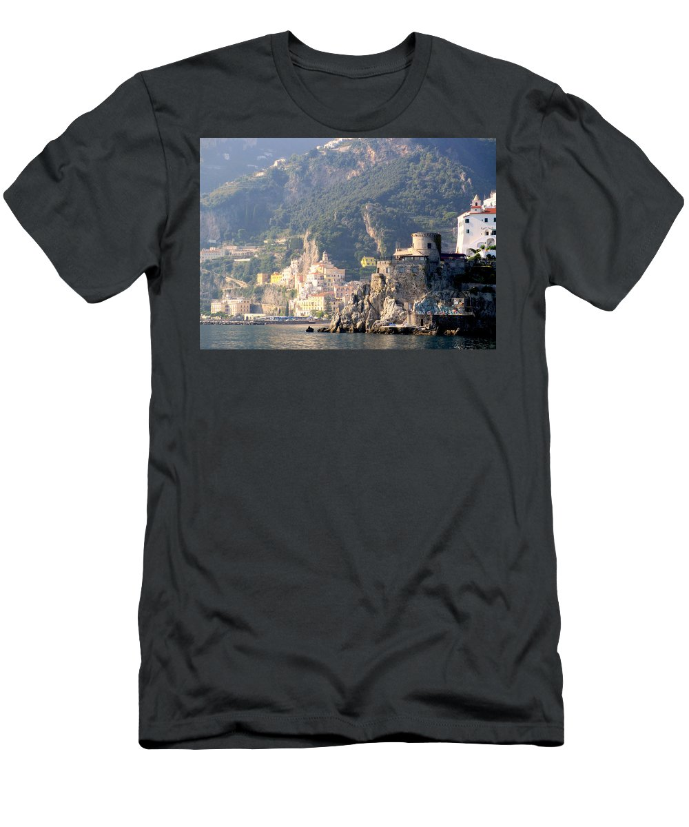 Amalfi Coast Men's T-Shirt (Athletic Fit) featuring the photograph Views From The Amalfi Coast In Italy by Richard Rosenshein