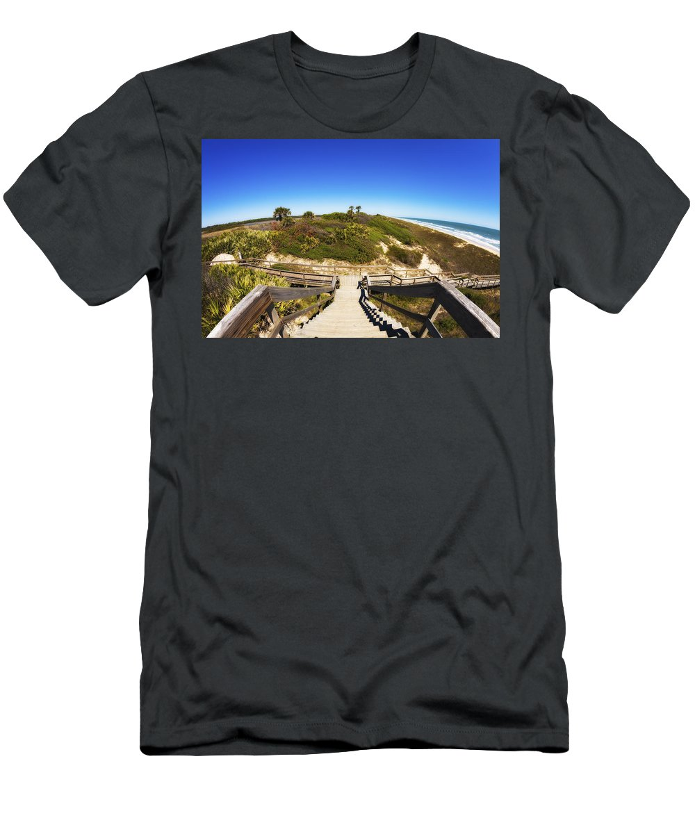 Atlantic Ocean Men's T-Shirt (Athletic Fit) featuring the photograph Ponte Vedra Beach by Raul Rodriguez