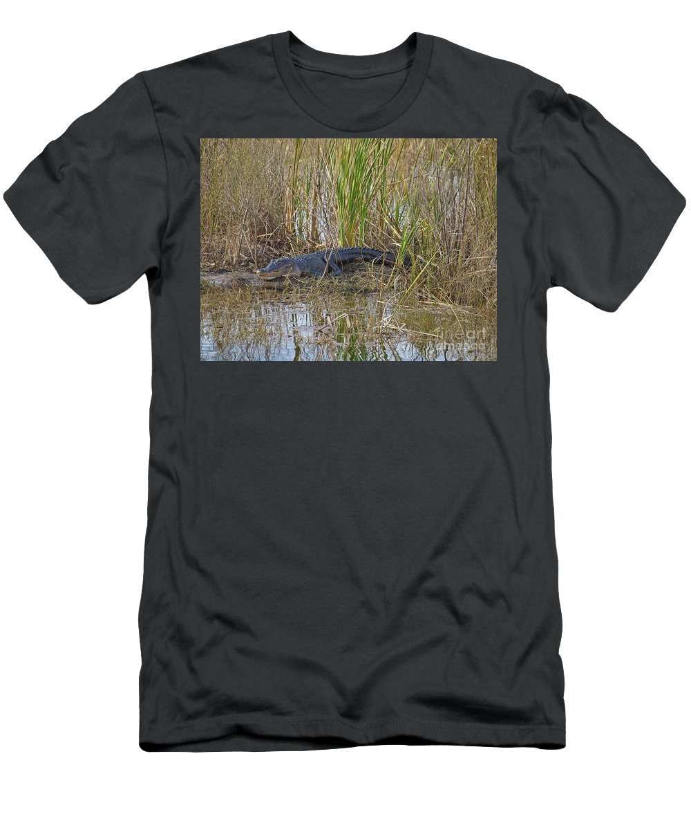 America Men's T-Shirt (Athletic Fit) featuring the photograph American Alligator by Howard Stapleton
