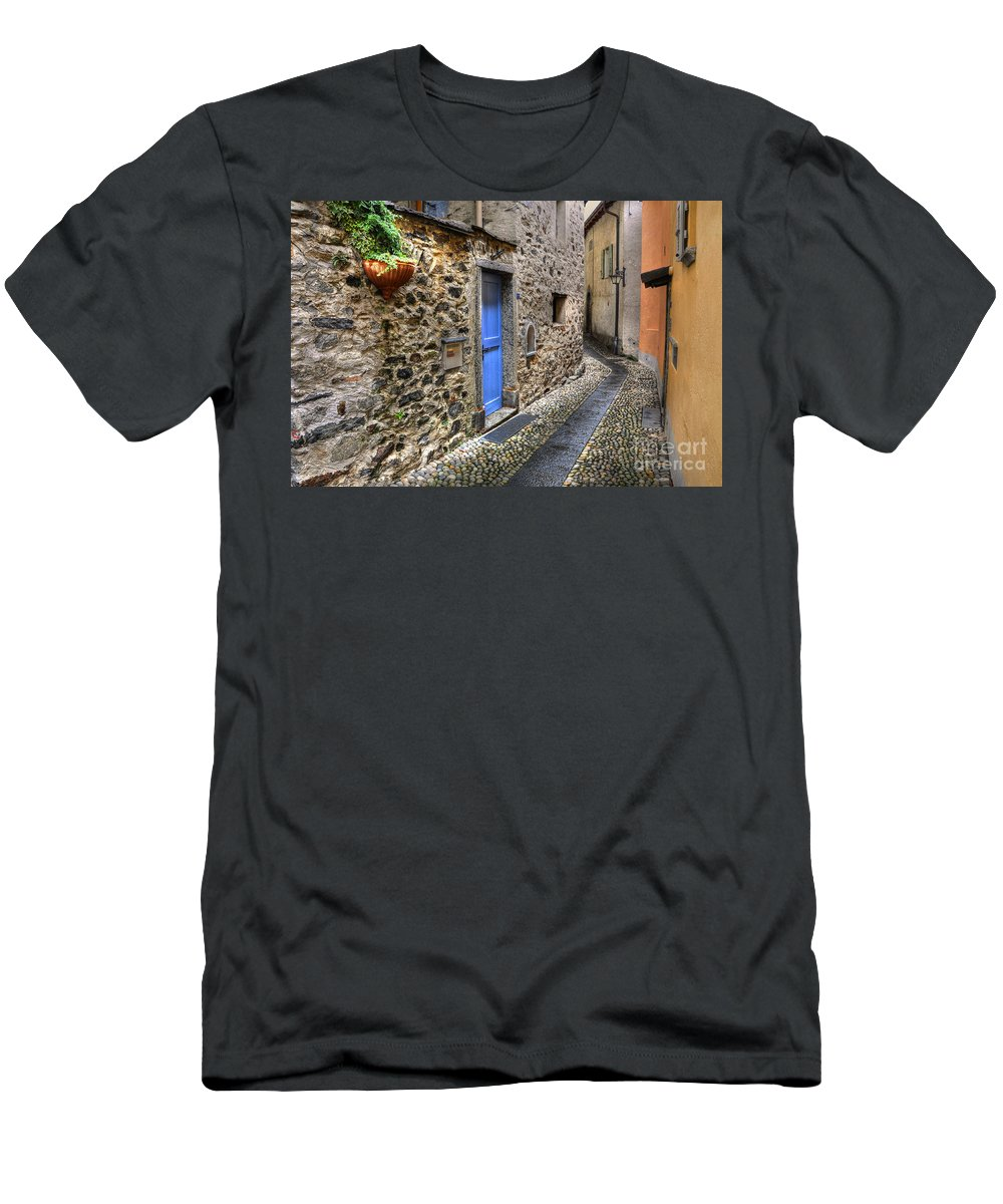Alley Men's T-Shirt (Athletic Fit) featuring the photograph Tight Alley by Mats Silvan