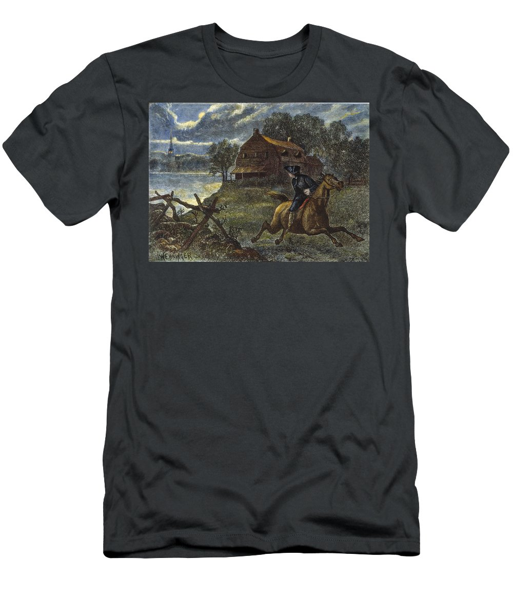 1775 Men's T-Shirt (Athletic Fit) featuring the photograph Paul Reveres Ride by Granger