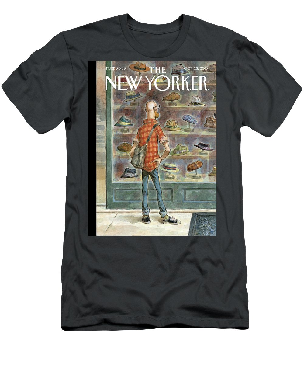 Top Choice Men's T-Shirt (Athletic Fit) featuring the painting Top Choice by Peter de Seve