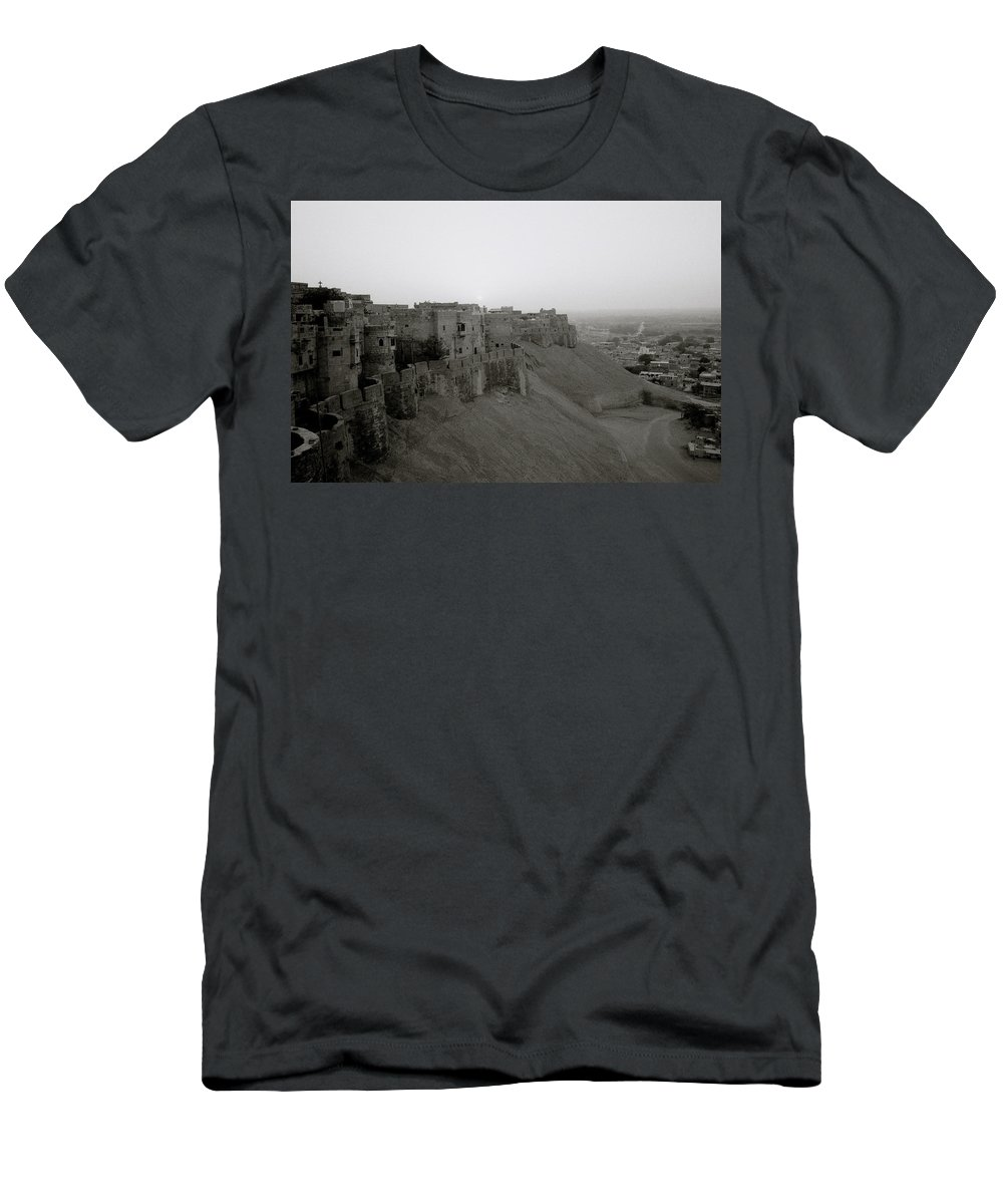 India Men's T-Shirt (Athletic Fit) featuring the photograph A Beautiful Morning by Shaun Higson