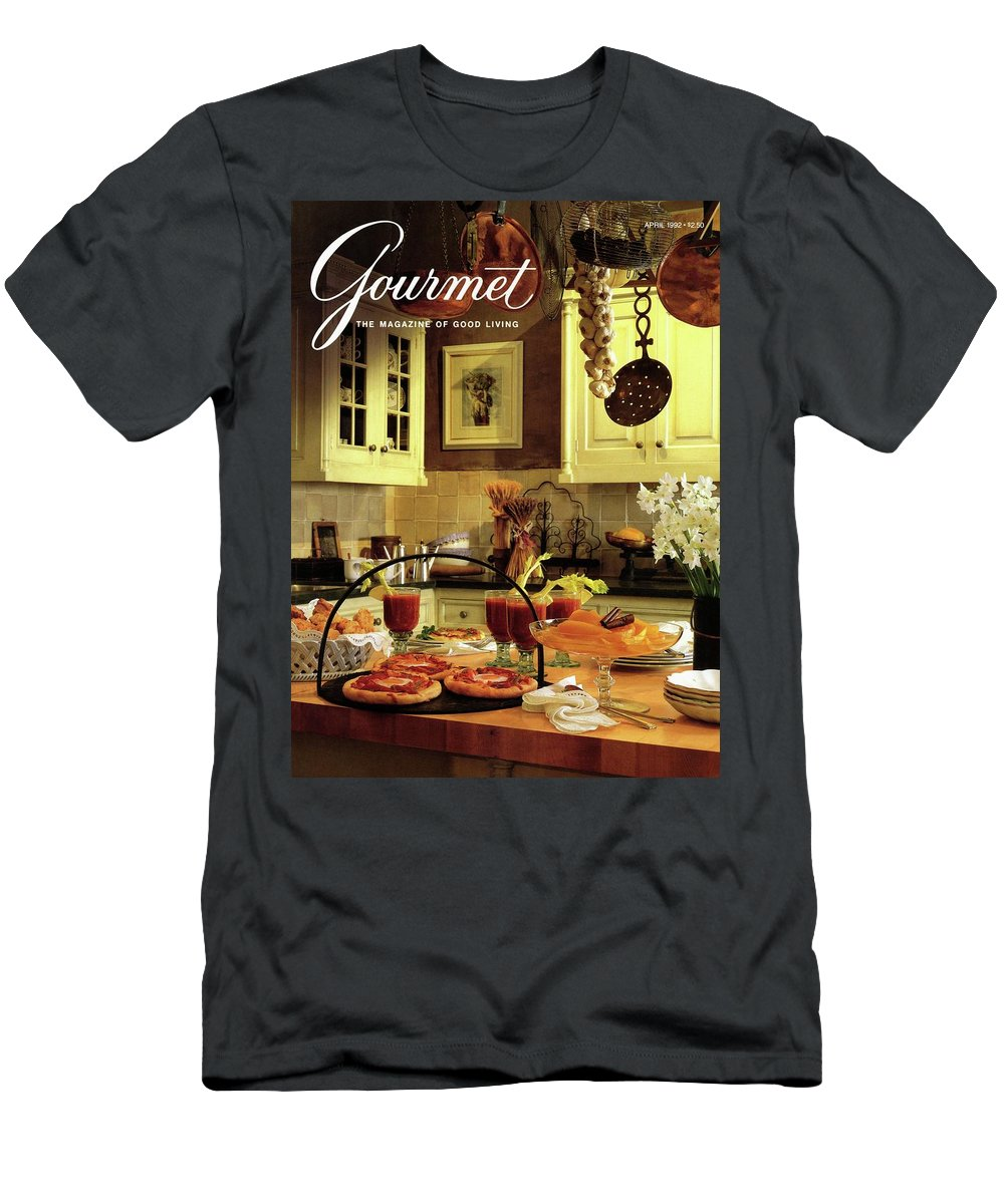 Entertainment Men's T-Shirt (Athletic Fit) featuring the photograph A Buffet Brunch Party by Romulo Yanes