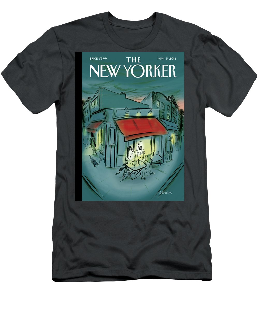 Digital T-Shirt featuring the painting Out And About by Charles Berberian