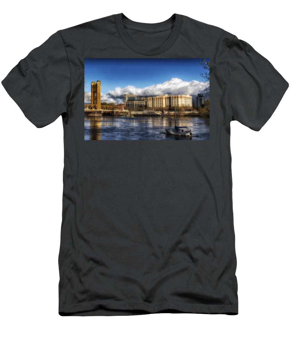 Sacramento Men's T-Shirt (Athletic Fit) featuring the photograph A Day In Sacramento by Mountain Dreams