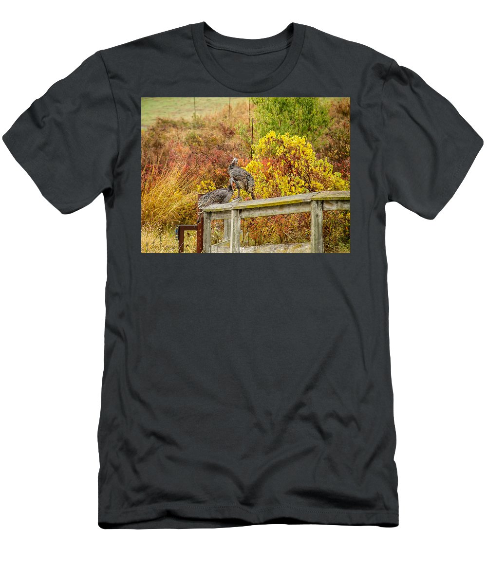 Fall Men's T-Shirt (Athletic Fit) featuring the photograph A Fall Photo by Brian Williamson