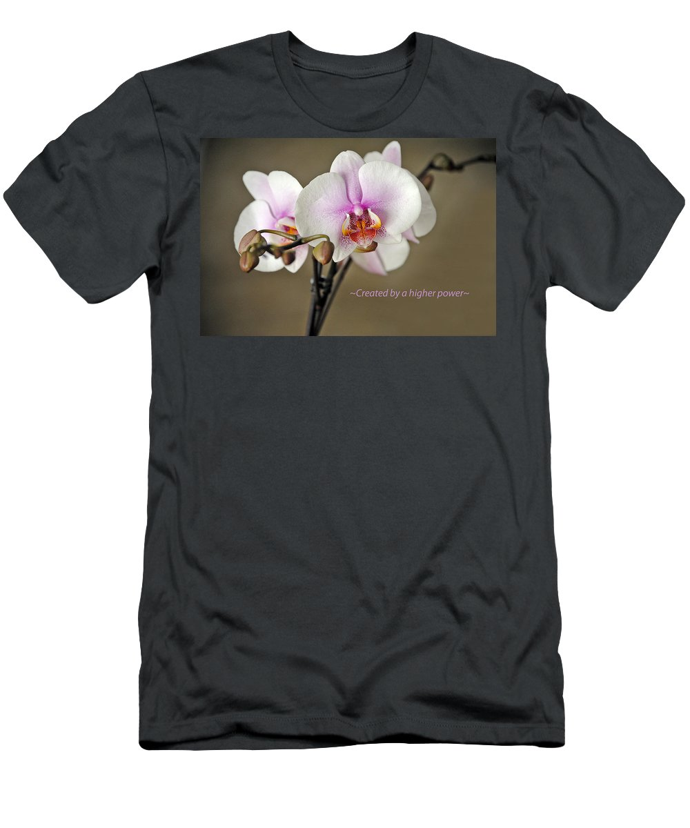 Orchid Men's T-Shirt (Athletic Fit) featuring the photograph A Higher Power by Skip Willits