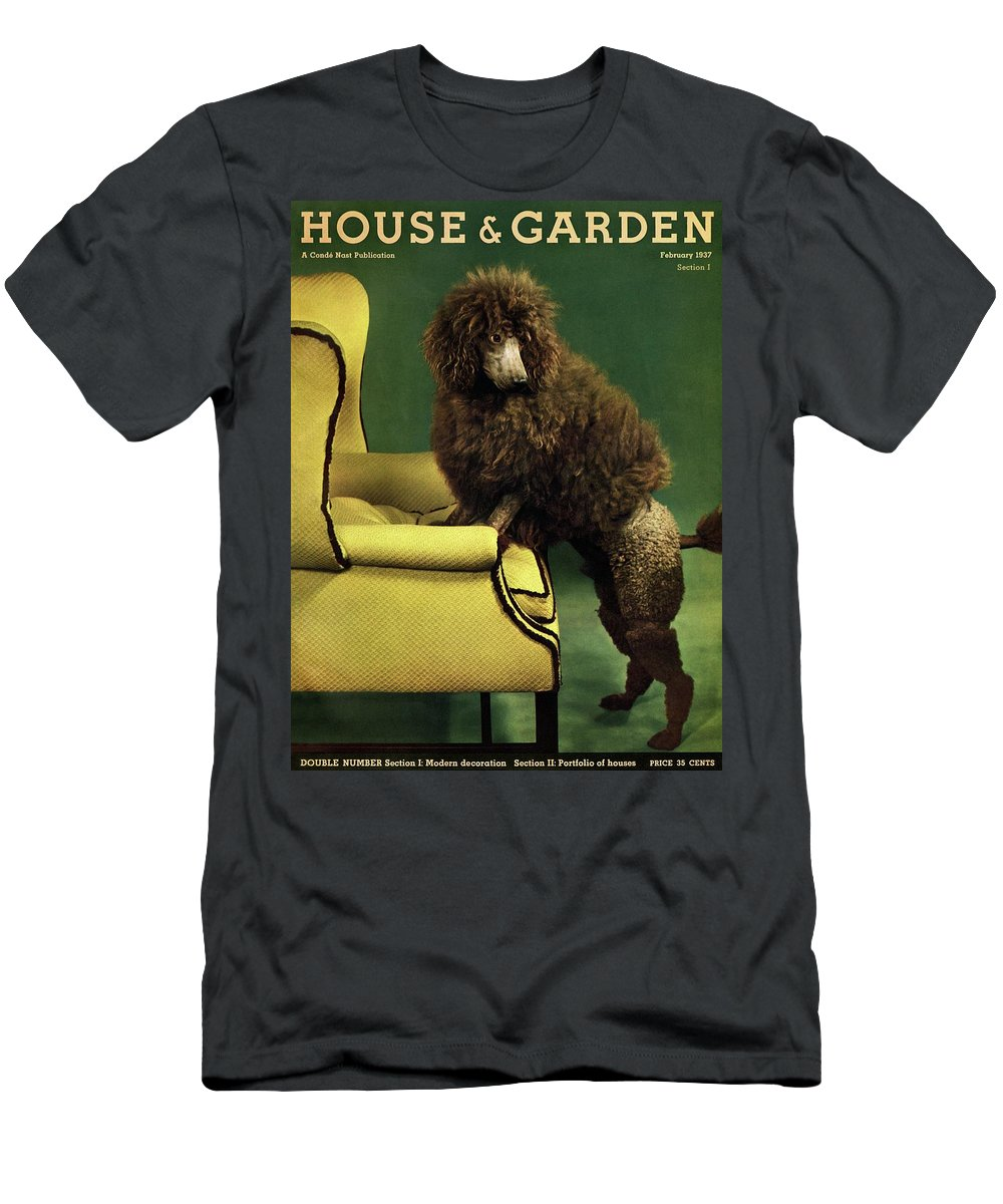 Illustration T-Shirt featuring the photograph A House And Garden Cover Of A Poodle by Anton Bruehl