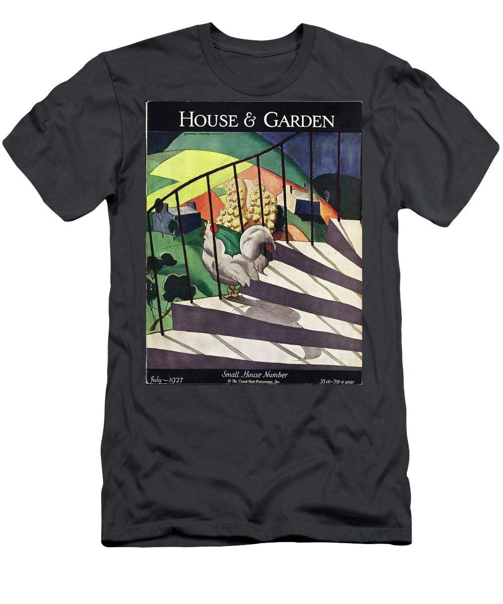 Illustration T-Shirt featuring the photograph A House And Garden Cover Of A Rooster by Bradley Walker Tomlin