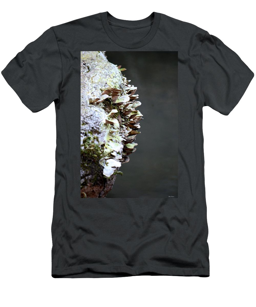 A Lichen Abstract 2013 Men's T-Shirt (Athletic Fit) featuring the photograph A Lichen Abstract 2013 by Maria Urso