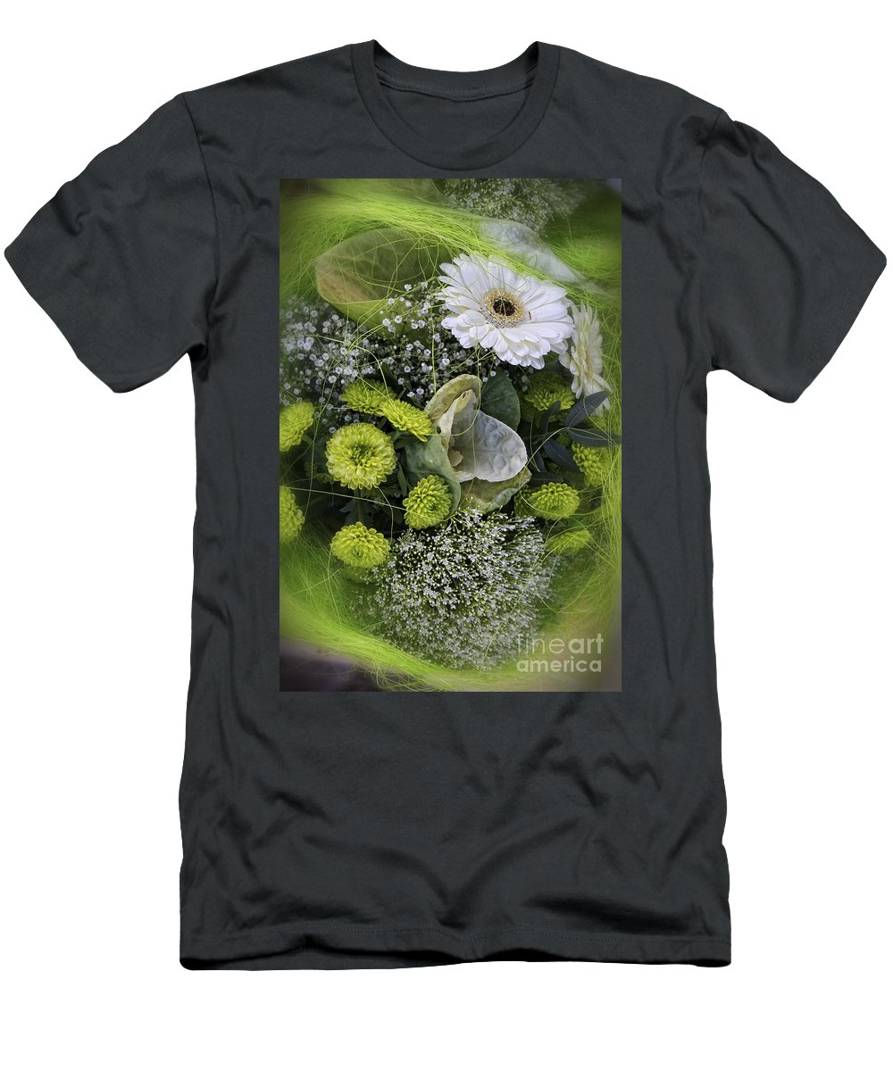 Flowers Men's T-Shirt (Athletic Fit) featuring the photograph A Lot Of Green by Timothy Hacker