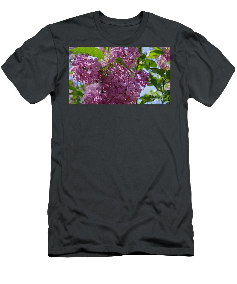 Flowers Men's T-Shirt (Athletic Fit) featuring the photograph A Lovely Color by Joseph Yarbrough