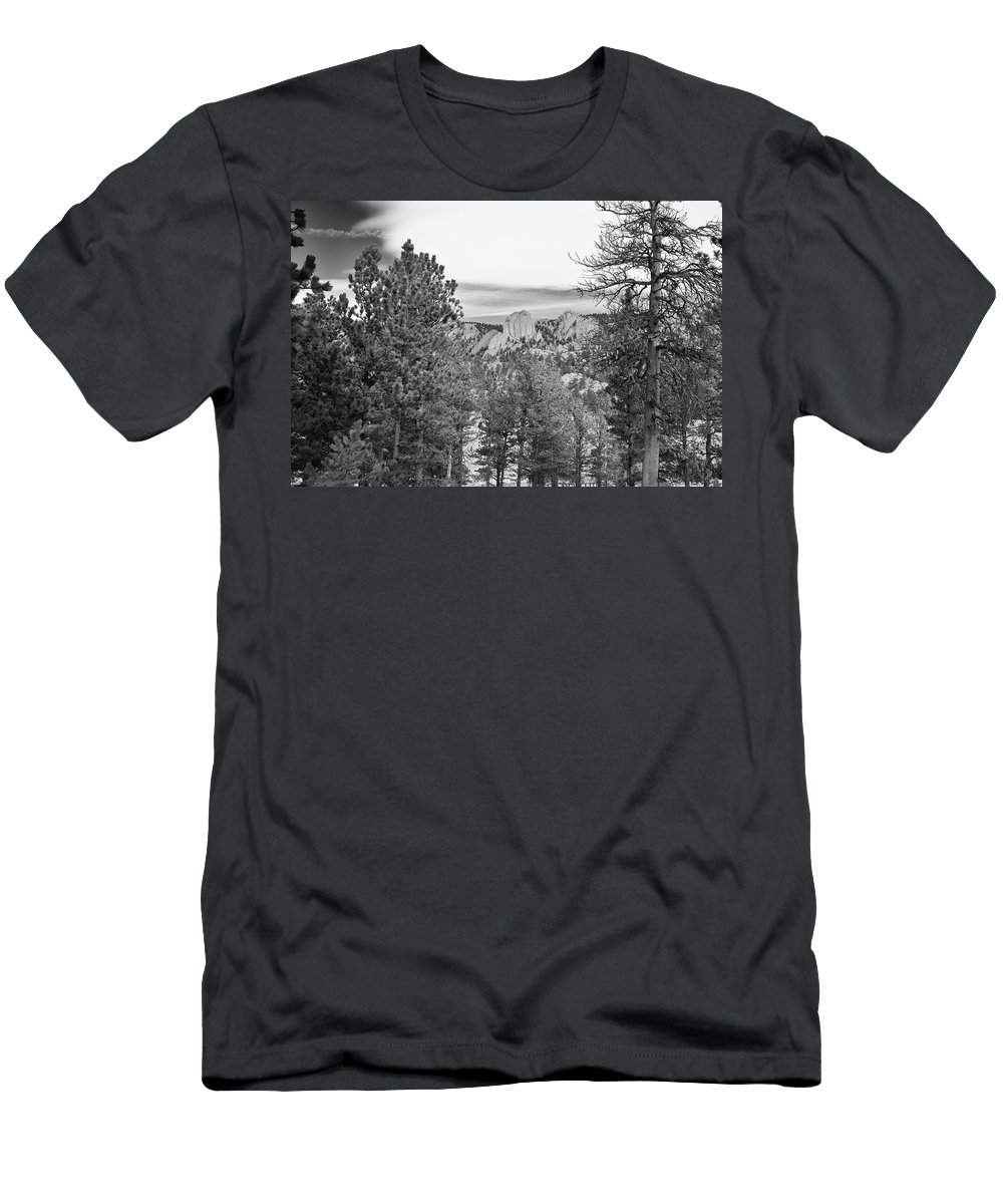 Guy Whiteley Photography Men's T-Shirt (Athletic Fit) featuring the photograph A View From Estes Park by Guy Whiteley