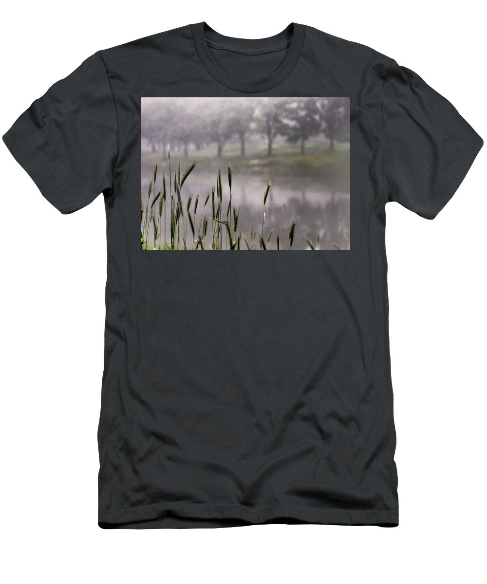 Mist Men's T-Shirt (Athletic Fit) featuring the photograph A View In The Mist by Bruce Patrick Smith