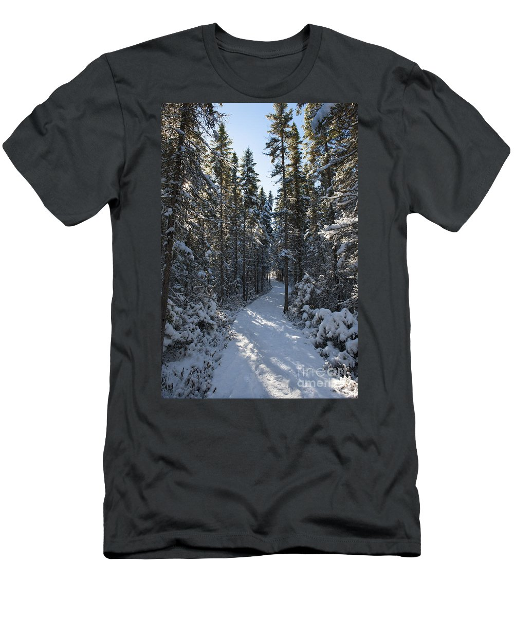 Nina Stavlund Men's T-Shirt (Athletic Fit) featuring the photograph A Winter Poem.. by Nina Stavlund